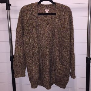Chunky Knit Cardigan Sweater Mossimo Small S